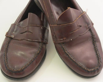 vintage penny loafers by Sperry leather slip on's.