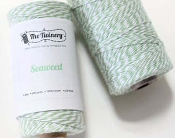 Seaweed Mint Green Twine, Bakers Twine, 1 spool 240 yards / 219 m.