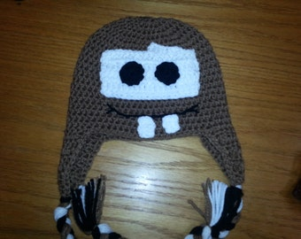 Disney's Mater INSPIRED Beanie-- Sizes Newborn-Extra Large Adult