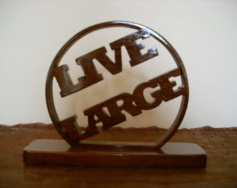 Live Large Word Art Design with Base