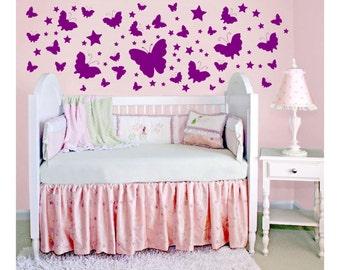 Butterflies Wall Decals great for scrapbooking craft // wall decor //sticker // nursery art // baby room decor // DA04