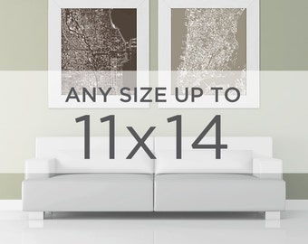 "11x14"" Cityscape Art Print: Choose any City in the shop"