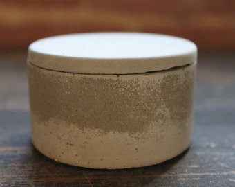 Small Gray Concrete Jar/Salt Cellar. Discontinued/Factory Second