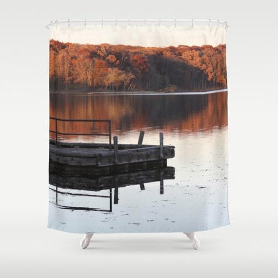 Rustic Lake House Decorating Ideas Rustic Lake House: Shower Curtain Lake House Decor Rustic Shower Curtain