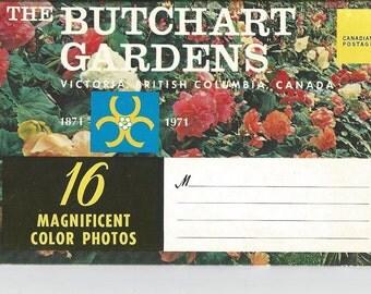 Vintage Butchart Gardens Victoria Canada Photo Folder