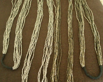 multirow long necklace- 7 lines