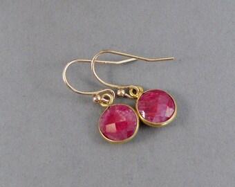 Genuine Ruby,Earrings,Gold Earrings,Ruby Earrings,Ruby STones,Red Stones,Red Earrings,Ruby Red,Gold Earrings,Ruby and Gold,Gold filled Ear.