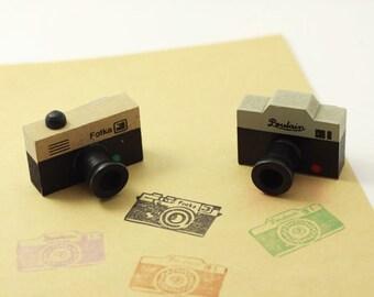 Vintage Camera Stamp/ Wooden Rubber Stamp 2 styles for choose