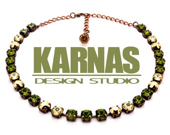 WOODLAND SPARKLE 8mm Crystal Necklace Made With Swarovski Elements *Pick Your Finish *Karnas Design Studio *Free Shipping*
