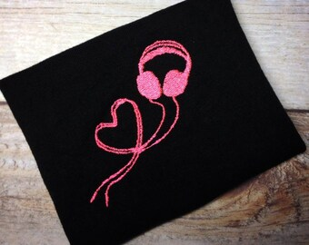 Headphones Embroidery Design