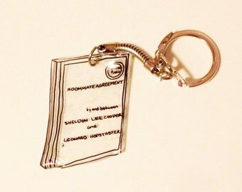 The Roommate Agreement Book Keychain