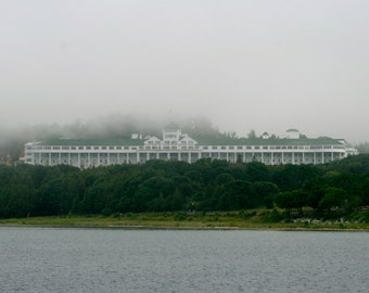 Morning Mist on the Grand   Grand Hotel, Mackinac Island, Michigan Photography Digital Download