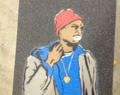 Spray Painted Tyrone Biggums Grip Tape
