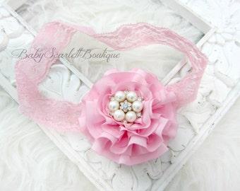 Pink Flower Baby Girl Headband,Girl Headband