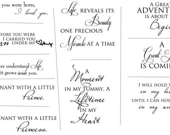 Maternity Artful Words Overlays- SET OF 10