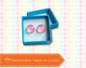 "earrings, studs ""Sweets for my Sweet"" - pink, cotton candy"