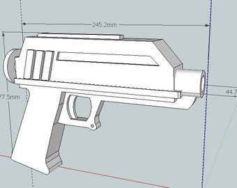Clone Trooper DC-17 Blaster Pistols Pair 2x (Animated Version) 3D Printed