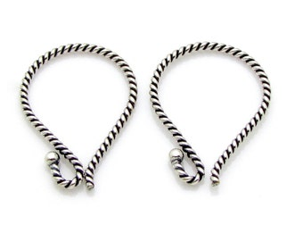 2 Pcs(1 Pair), 17mm, Sterling Silver Ear Wire