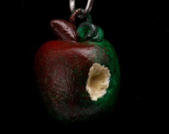 Realistic apple pendant