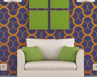 Large Modern Wall Stencil Geometric Pattern for Easy DIY Home decor