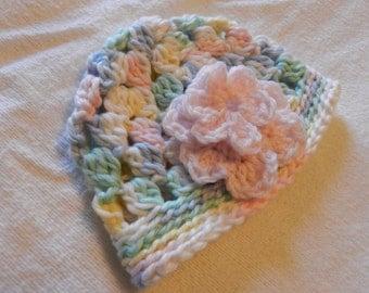 Newborn Girl Crochet Hat