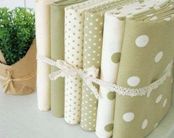 Oxford Cotton Fabric Polka Dot Khaki Series By The Yard