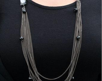 Long Necklace: Black Necklace