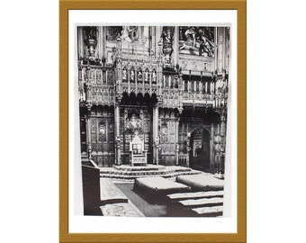 "1942 Vintage B&W Print / Great Britain House of Lords King Throne / 10"" x 13"" / Buy 2 ads Get 1 FREE"