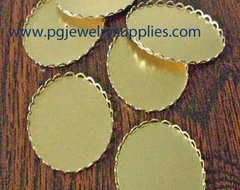40mm x 30mm oval lace edge closed back cameo cab settings 6 pcs lot l