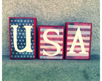 USA blocks - flag
