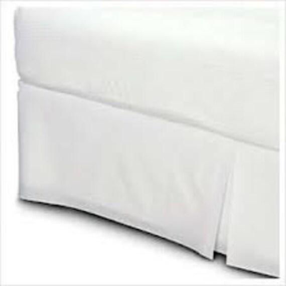 split corner white box pleat bed skirt cotton by