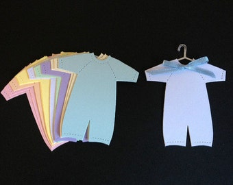 15 Baby Outfits / Babygrow die cuts for cards/toppers cardmaking-scrapbooking craft project