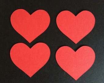 15 Large Red Heart die cuts shapes for cards/toppers cardmaking-scrapbooking craft projects