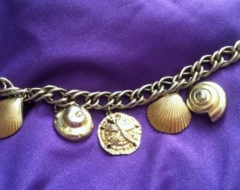 Vintage Seashell Charm Bracelet
