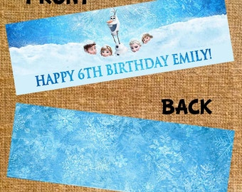 Customized Frozen Birthday Bag Topper - Digital File