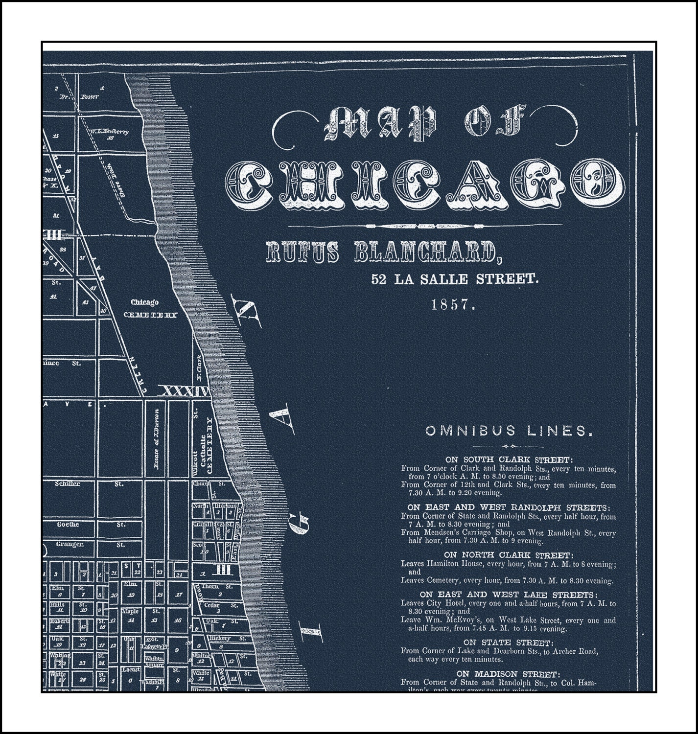 Chicago map map of chicago chicago street map blueprint map chicago map map of chicago chicago street map blueprint map chicago 1857 vintage map malvernweather Image collections