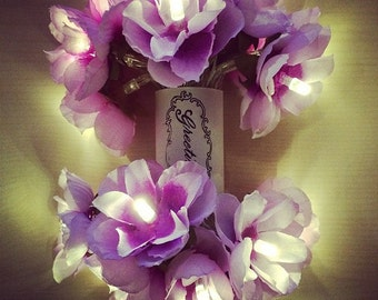 Wild Roses LED Fairy Lights in Romantic Purple