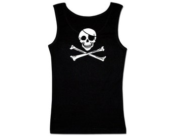 Men's Pirate Tank Top - Classic Jolly Roger