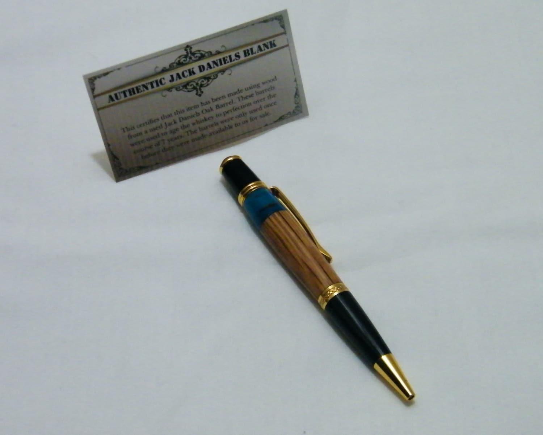 Jack Daniels Whiskey Barrel Twist Pen
