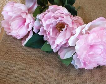 Lot of ten - Beautiful Silk Peony Roses  #silkroses #flowers #wreathsandcenterpieces