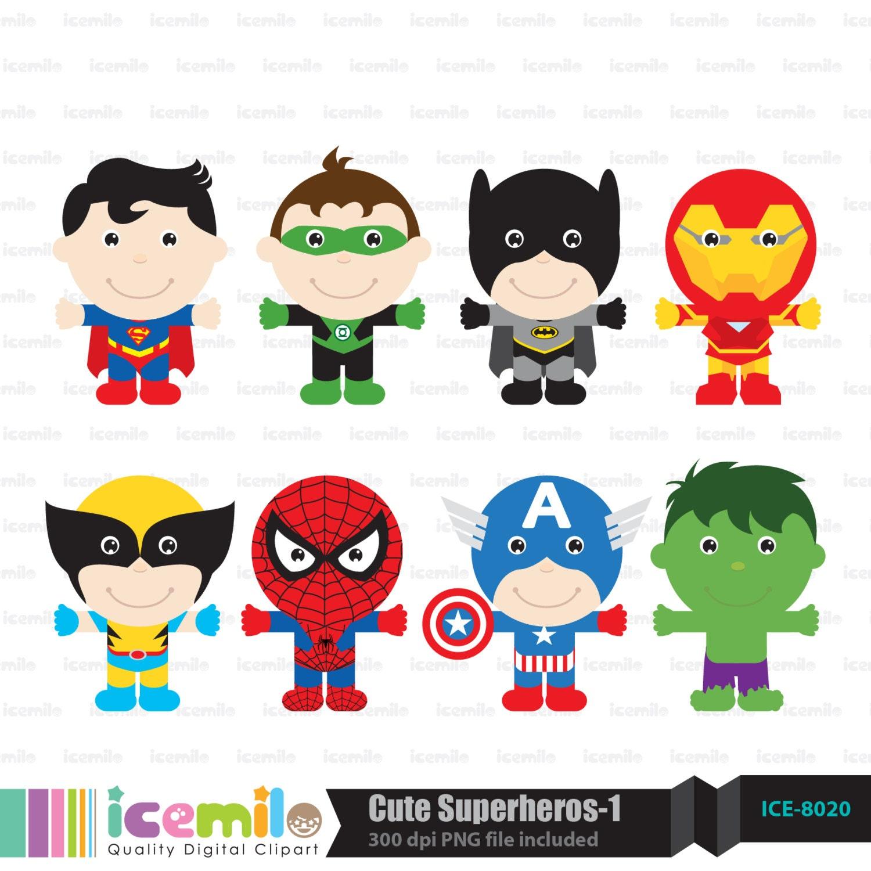 Cute December Clipart Cute Superhero Digital Clipart