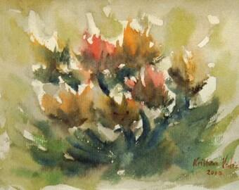 Flower Painting, Watercolor Flower Painting, Flowers, Modern Art, Contemporary Art, Modern Painting