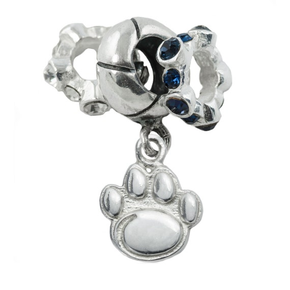 penn state charm bead set by fabfanshop on etsy