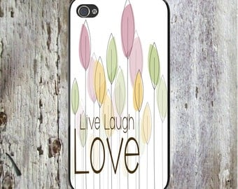 iPhone X, iPhone 8, All iPhone & Samsung Live Laugh Love Art Quote Personalized Phone Case