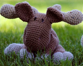 Montana the Moose Stuffed Crochet Amigurumi Moose Sale Gifts Under 30