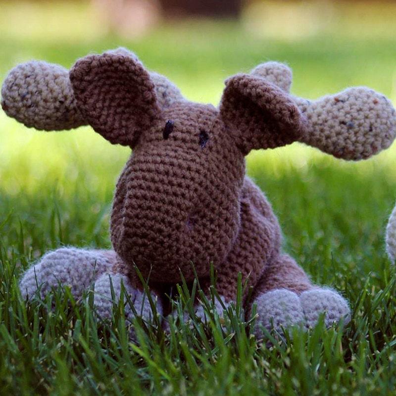 Amigurumi Moose Pattern Free : Montana the Moose Stuffed Crochet Amigurumi Moose Sale Gifts