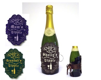 Personal bottle label