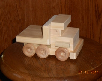 Handcrafted Wood Toy Trucks