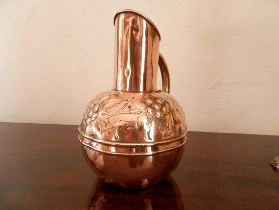Antique Copper Pan Copper Water Pitcher Jug Arts Amp Crafts
