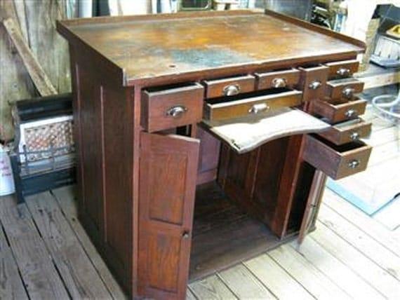Antique Watchmakers Workbench Desk
